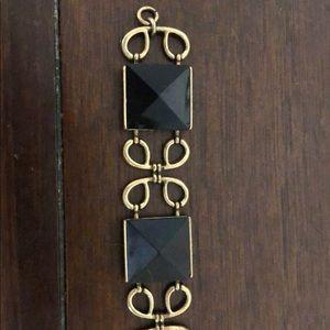 J Crew bracelet with black stones